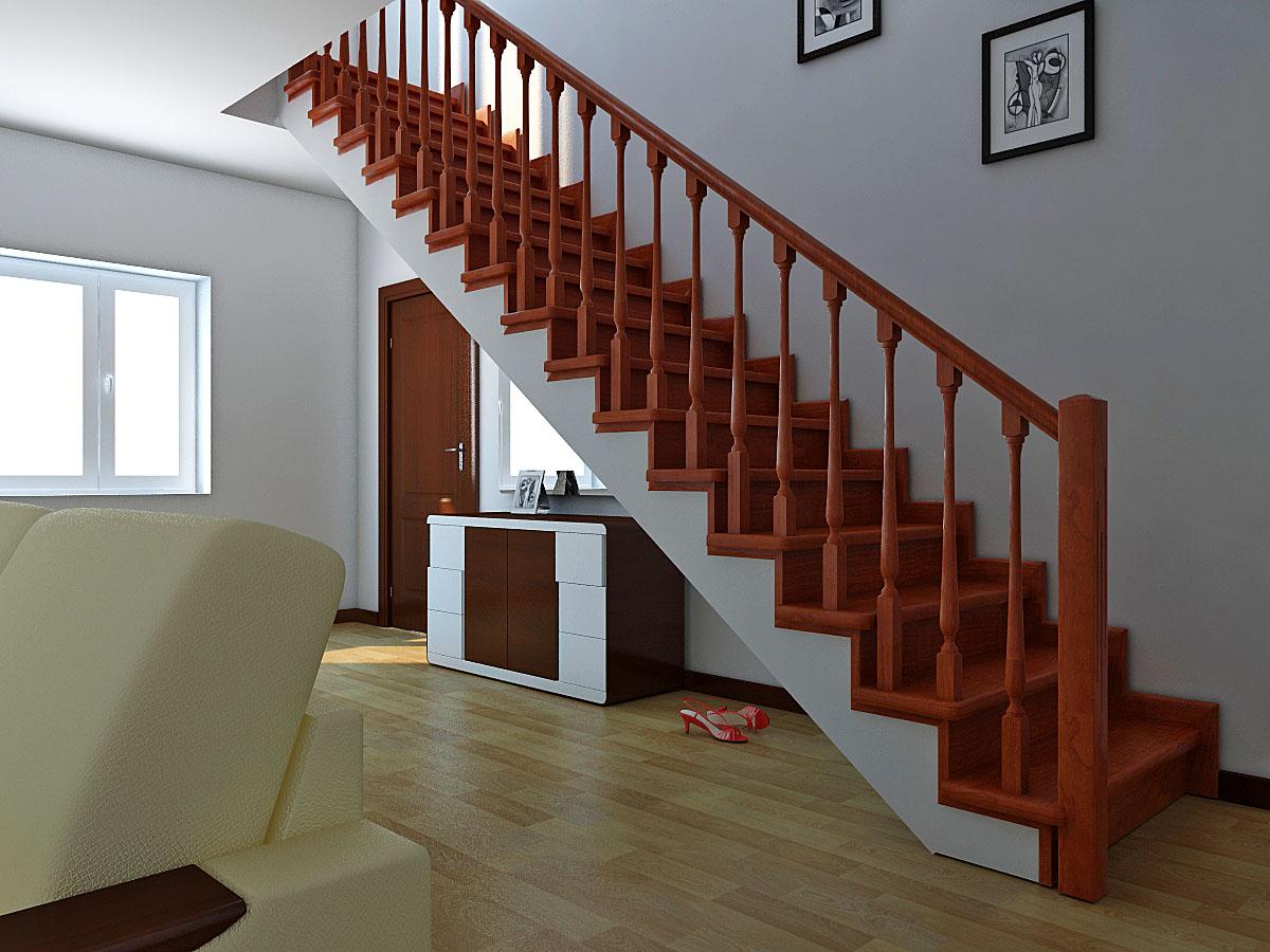 Как сделать лестницу на второй этаж у окна