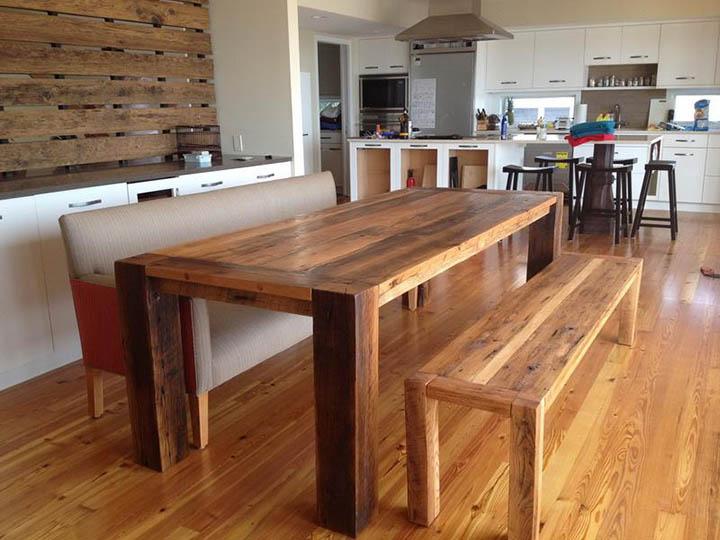 Большой обеденный стол своими руками 46