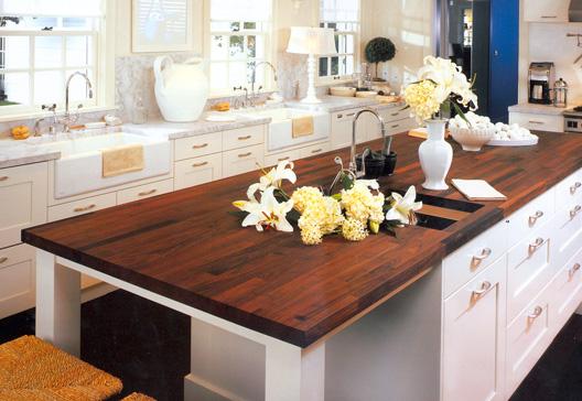 Деревянная кухонная столешница
